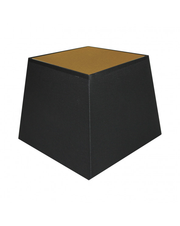 Abat-jour carré pyramidal Noir & OR