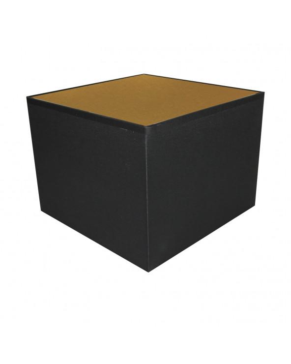 Abat-jour carré Noir & Or
