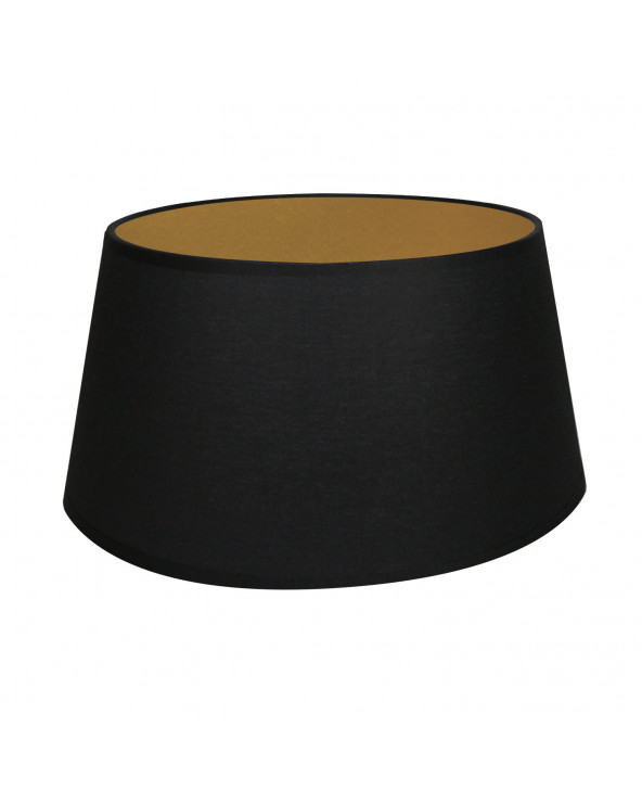 Abat-jour Conique Noir & Or