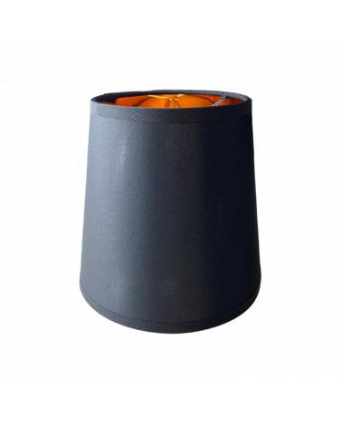 Abat-jour Conique Pince Flamme Noir & Or