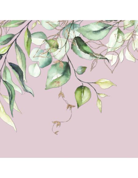 Abat-jour Lampadaire Branche Rose Poudré