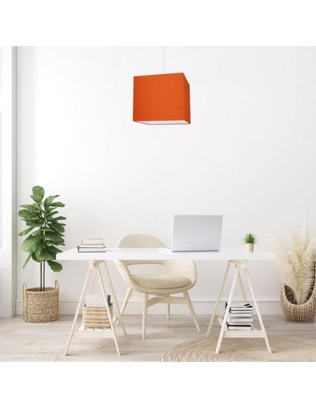 Abat-jour carré Orange