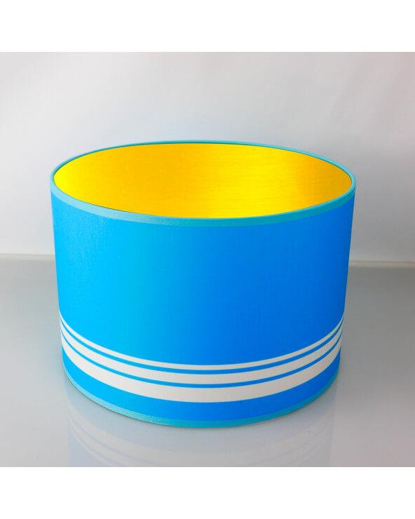 abat-jour rond bleu int or