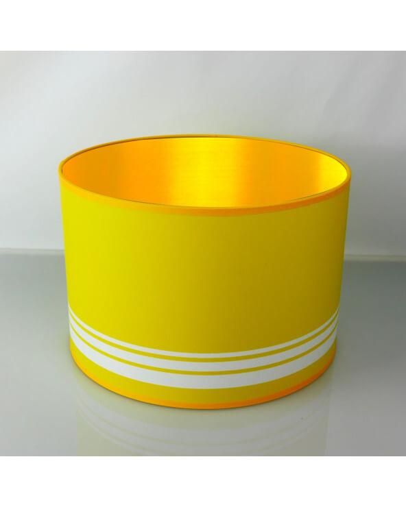 abat-jour rond jaune int or