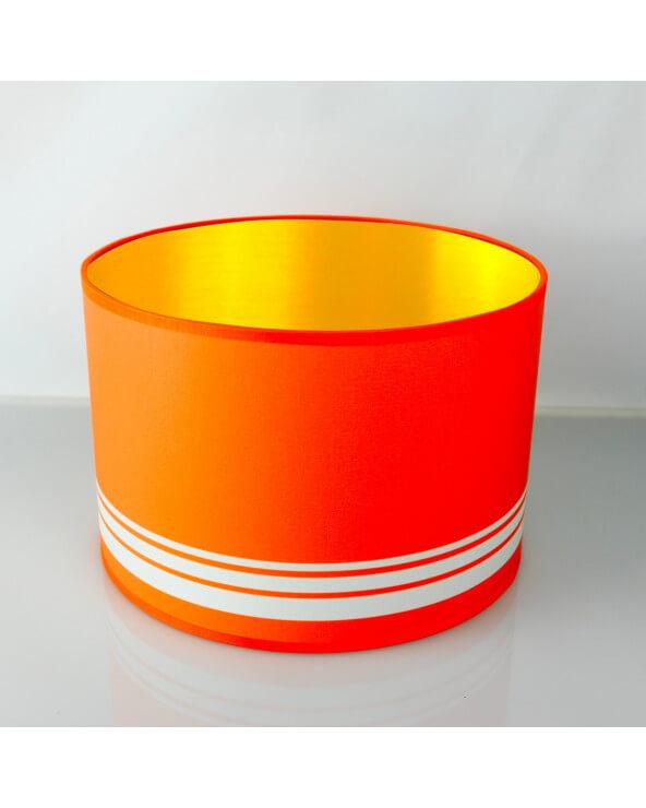 abat-jour rond orange int or