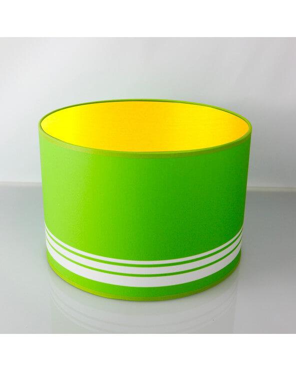 abat-jour rond vert int or