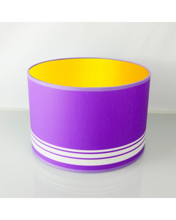 abat-jour rond violet int or