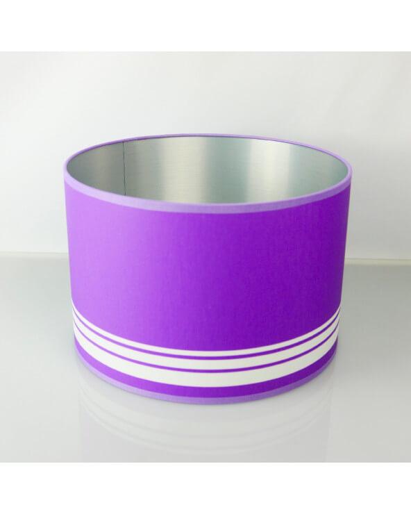 abat-jour rond violet int Alu brossé