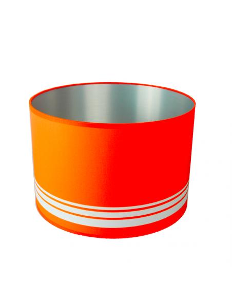 abat-jour rond orange intérieur Alu brossé