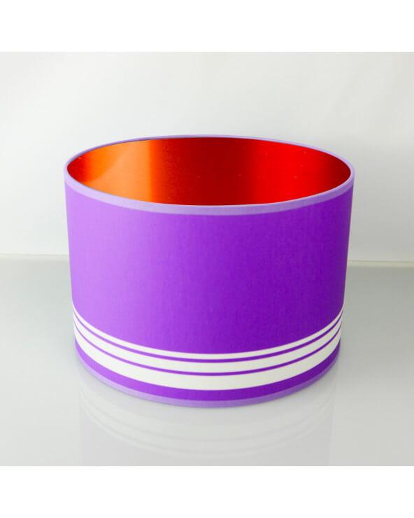 abat-jour rond violet int Cuivré