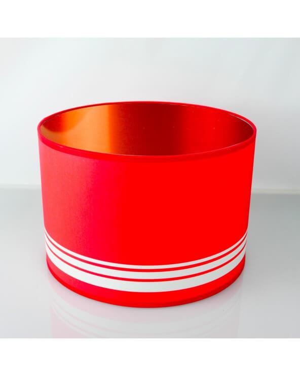 abat-jour rond rouge int Cuivré