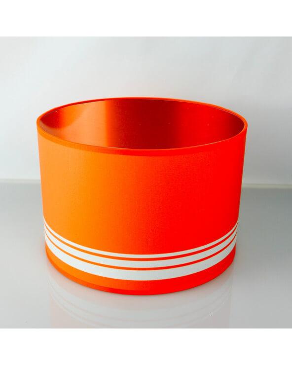 abat-jour rond orange int Cuivré