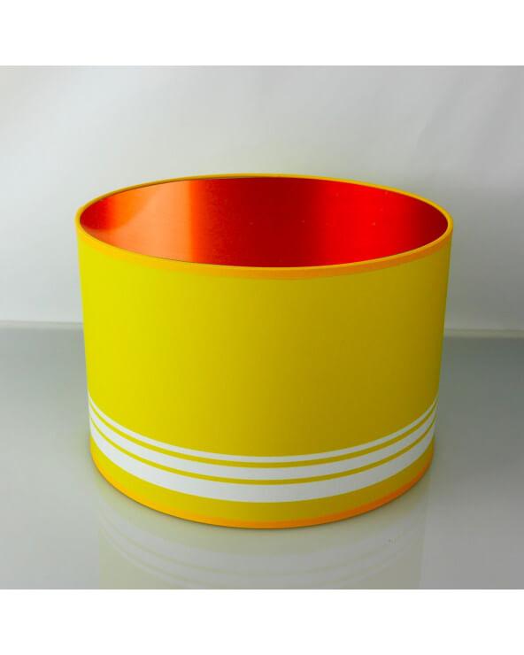 abat-jour rond jaune int Cuivré