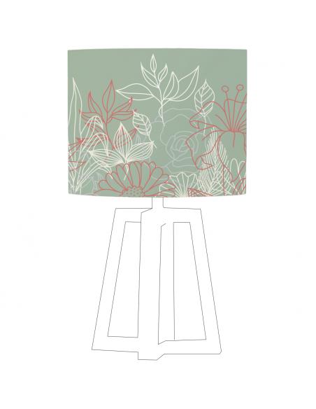 Abat-jour Bouquet Vert Olive
