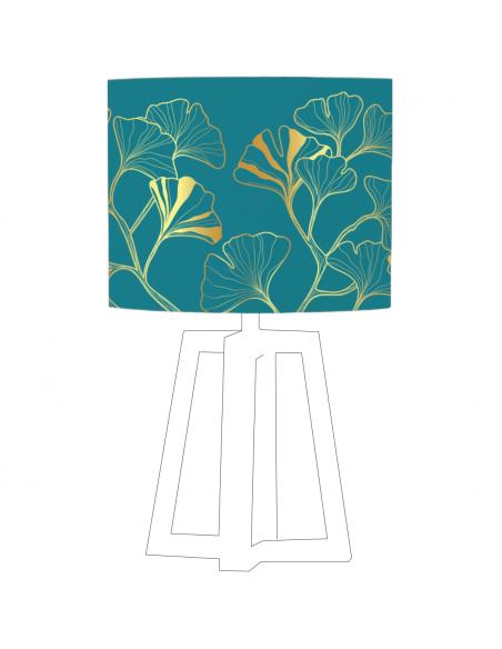 Abat-jour Iris Bleu Canard