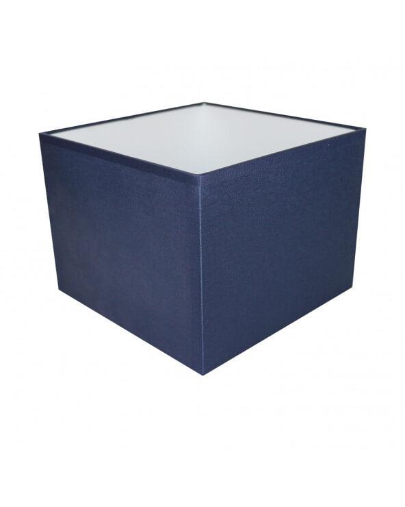Abat-jour carré Bleu marine