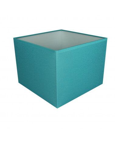 Abat-jour carré Bleu turquoise