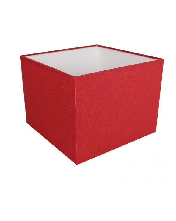 Abat-jour carré Rouge