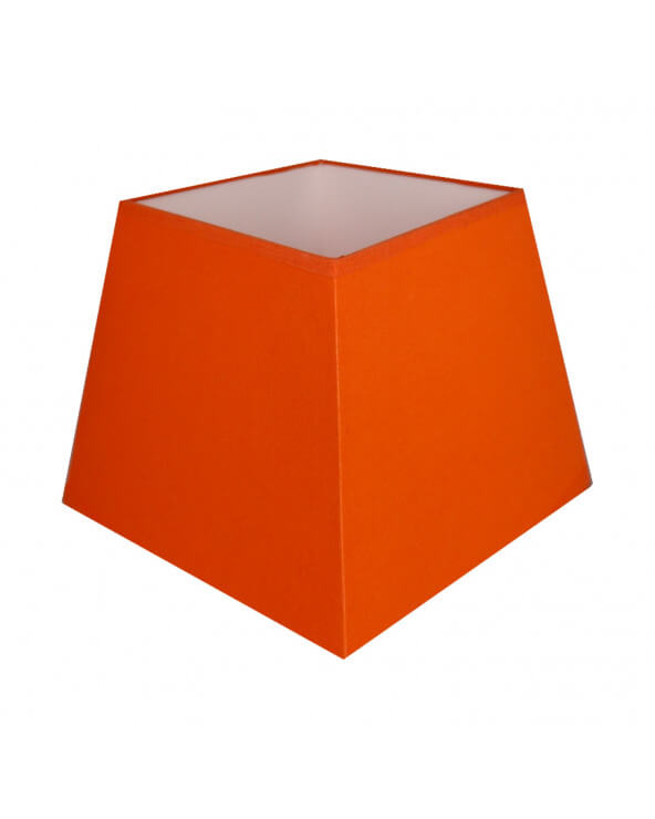 Abat-jour carre pyramidal Orange