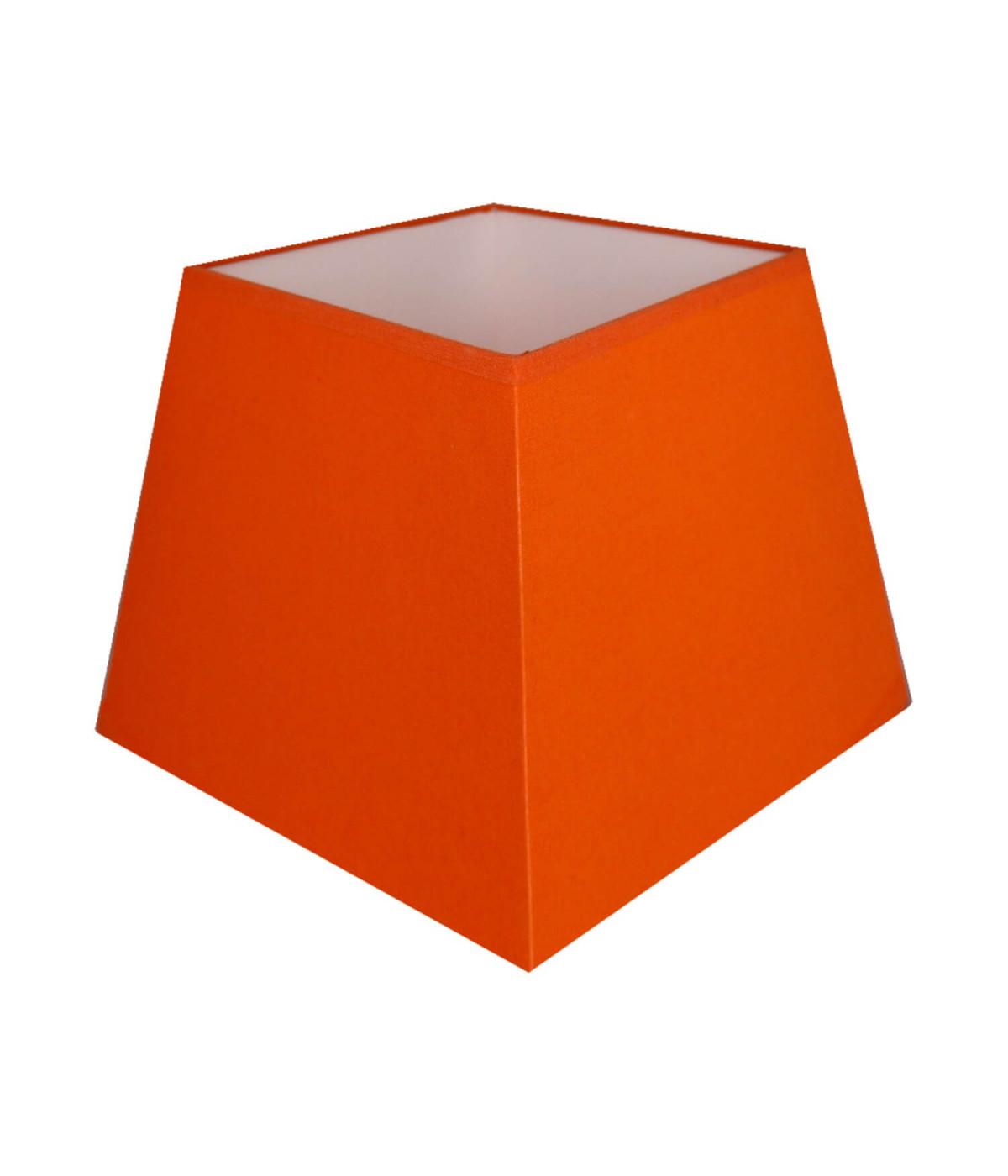 Abat-jour carre pyramidal Orange