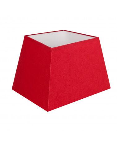 Abat-jour carre pyramidal Rouge