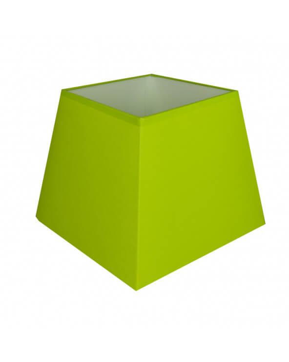 Abat-jour carre pyramidal Vert pomme