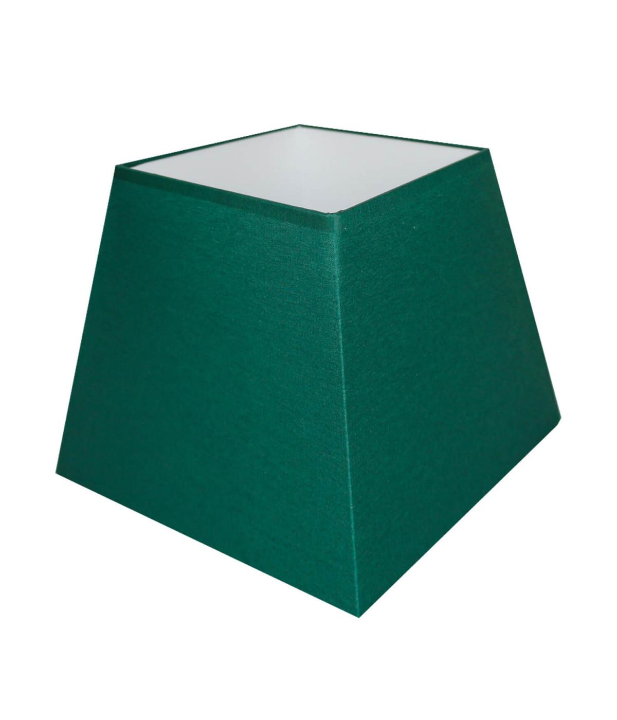 Abat-jour carre pyramidal Vert empire