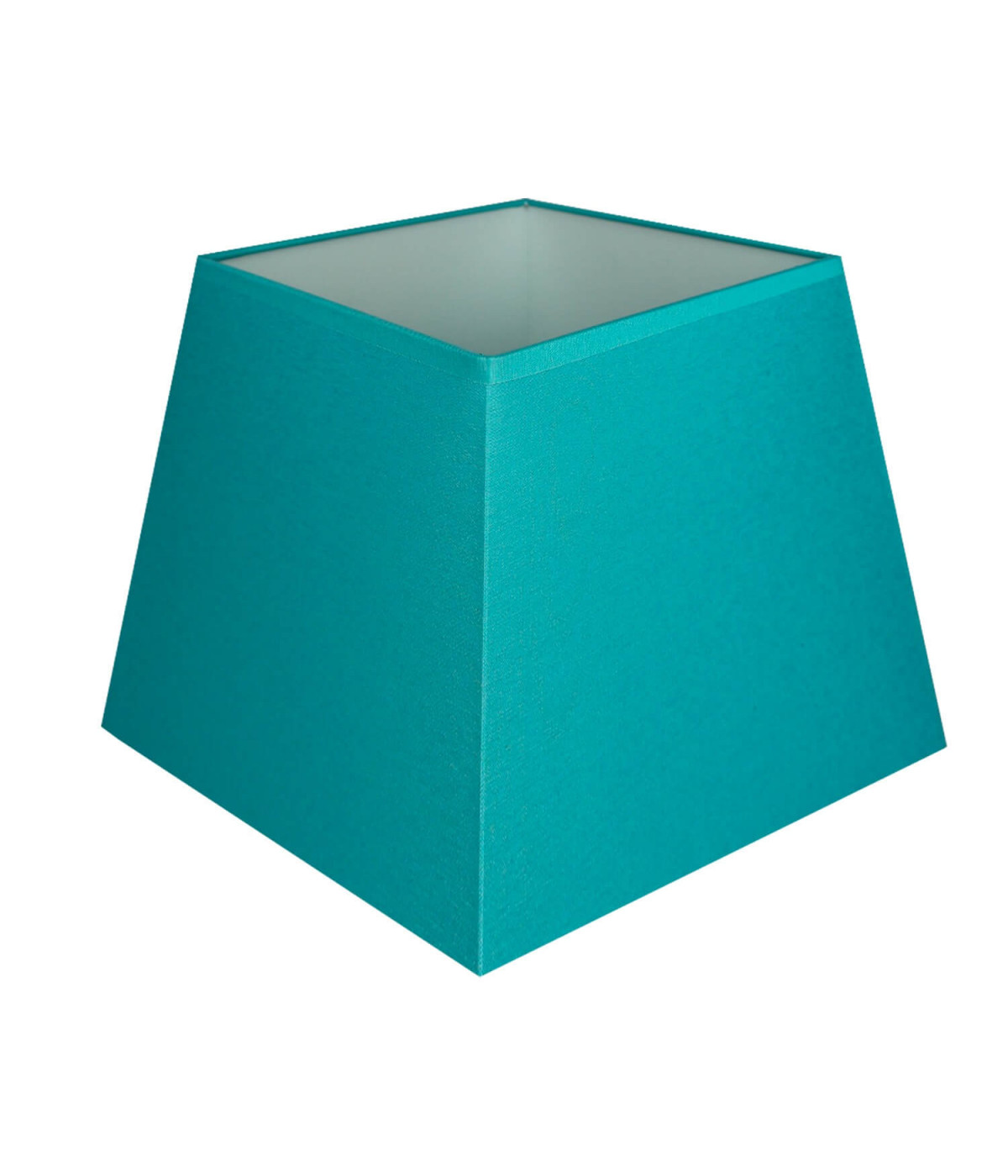 Abat-jour carre pyramidal Bleu turquoise