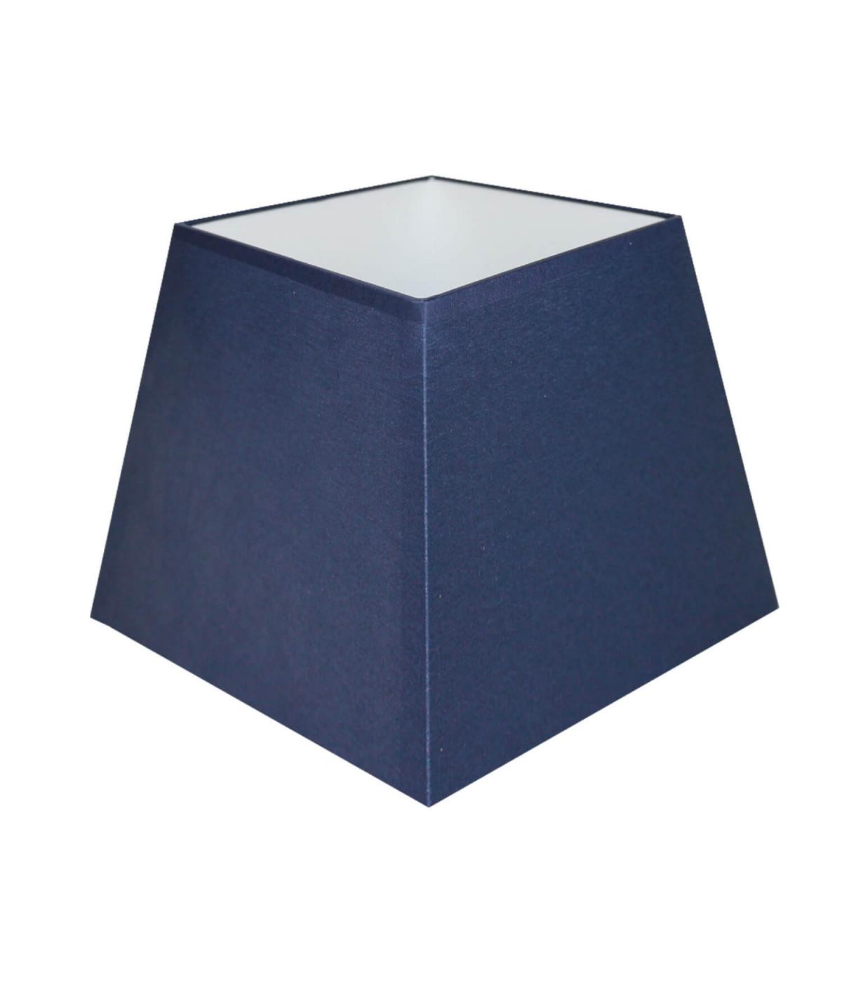 Abat-jour carre pyramidal Bleu marine