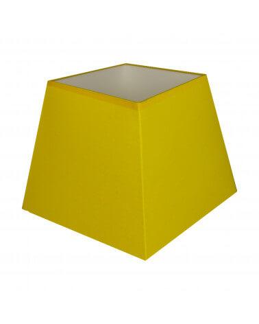 Abat-jour carré pyramidal Jaune