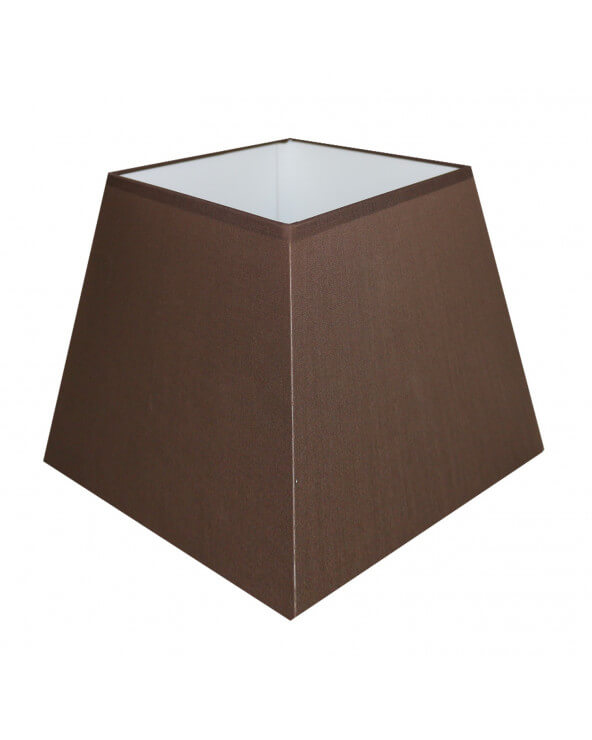 Abat-jour carre pyramidal Chocolat