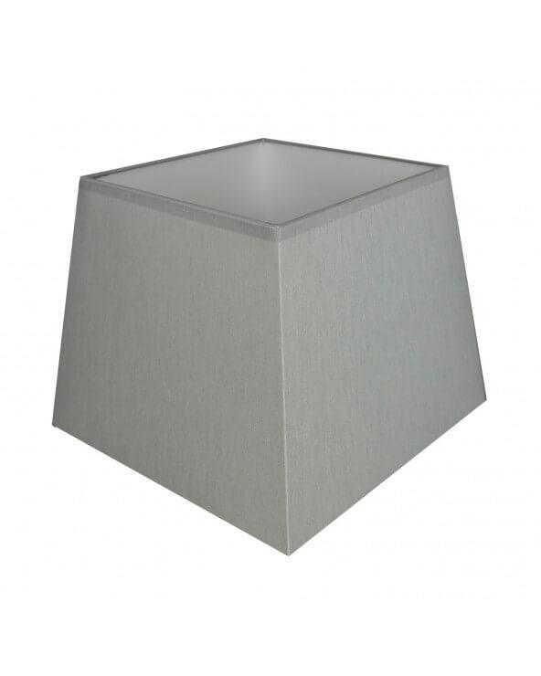 Abat-jour carre pyramidal Gris clair