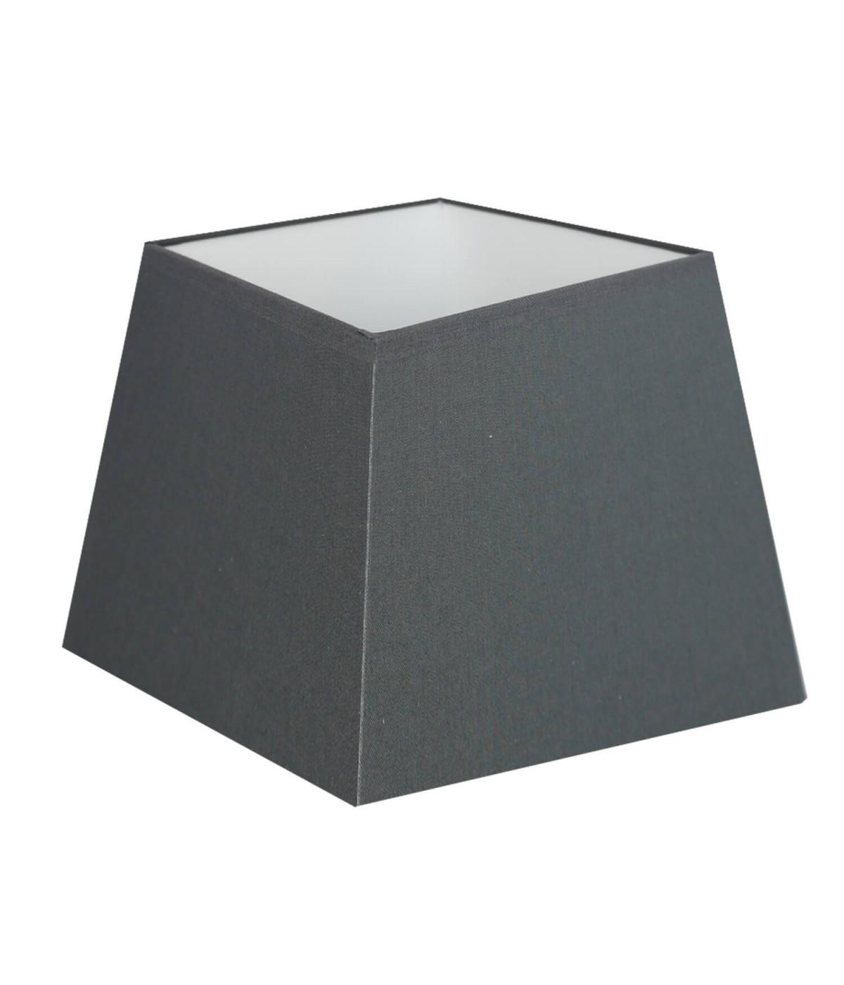 Abat-jour carre pyramidal Gris souris