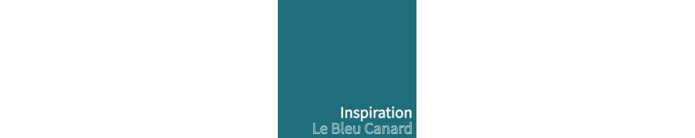 Abat-jour tendance bleu canard